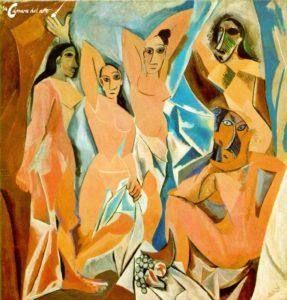 Las señoritas de Aviñón (1907) PICASSO